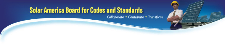 Solar America Board for Codes and Standards Page Banner.
